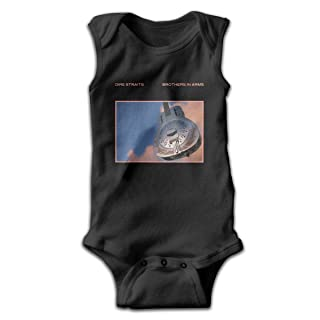 Dire Straits Brothers in Arms Newborn Infant Toddler Baby Girls Boys Sleeveless Bodysuit Onesies 0-24 Months Black