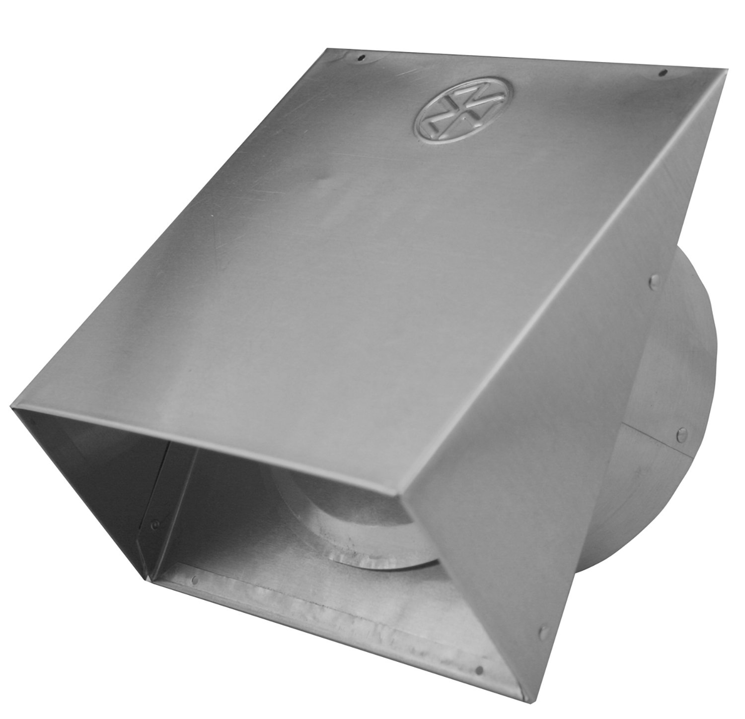 "Builder's Best 011641 Heavy Gauge Wall Vent Hood with Spring Loaded Damper, 6"" Diameter x 6"" Tail, Aluminum"