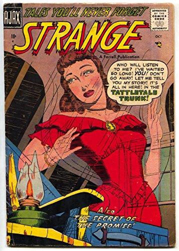 Strange #4 1957- Ajax Horror comic book- Tattletale Trunk FN