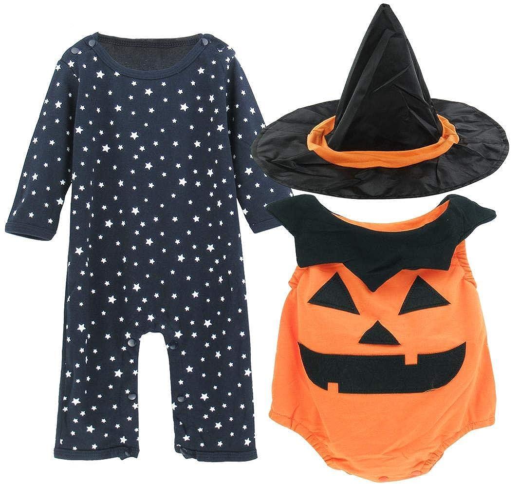 Mombebe Halloween K/ürbis Baby Jungen M/ädchen Cosplay Strampler mit Kapuze Overall