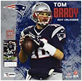 Turner Licensing Sport 2017 New England Patriots Tom Brady Player Wall Calendar, 12''X12'' (17998011784)