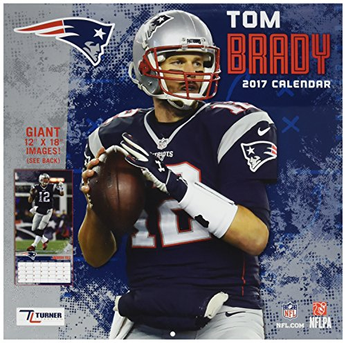 "Turner Licensing Sport 2017 New England Patriots Tom Brady Player Wall Calendar, 12""X12"" (17998011784)"