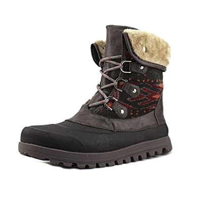 db7fdaae28f2 BareTraps Womens Yaegar Fabric Round Toe Ankle Cold Weather Boots Dark Grey  5.0