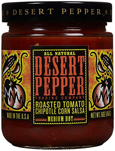 Desert Pepper Salsa - Roasted Tomato Chipotle Corn, Medium - 16 - Medium Salsa