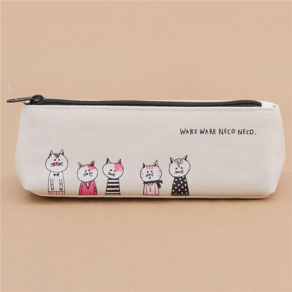 かわいいクリームFunny Cat Animal Pencil Case by Mind Wave B06VSK8P6X