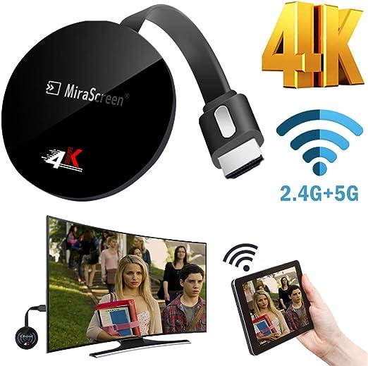 BANESE Adaptador HDMI 4K WiFi Display Dongle, Dongle De TV 2.4G / 5G Streaming Stick para Android/iOS/Windows, Compatible con Google Home Y Chrome Mirroring,2.4G: Amazon.es: Hogar