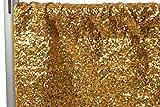 "Glitz Sequin 12ft H x 52"" W Drape/Backdrop panel - Gold offers"