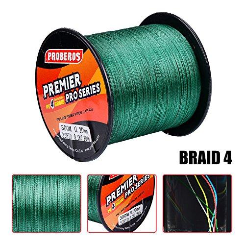 Superpower braided fishing line 4 strands stronger for Braided fishing line for saltwater
