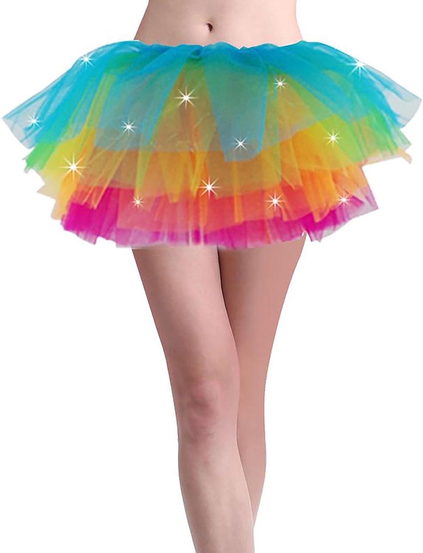 Womens Bright Rainbow Tutu Skirt