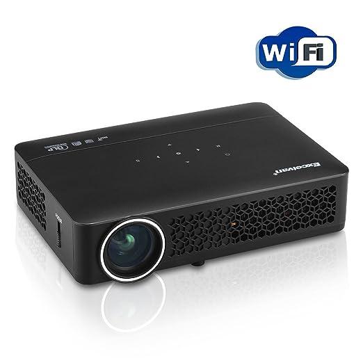 15 opinioni per Excelvan DLP 800WM Mini Proiettore LED- Portatile Projector, Home Theater,