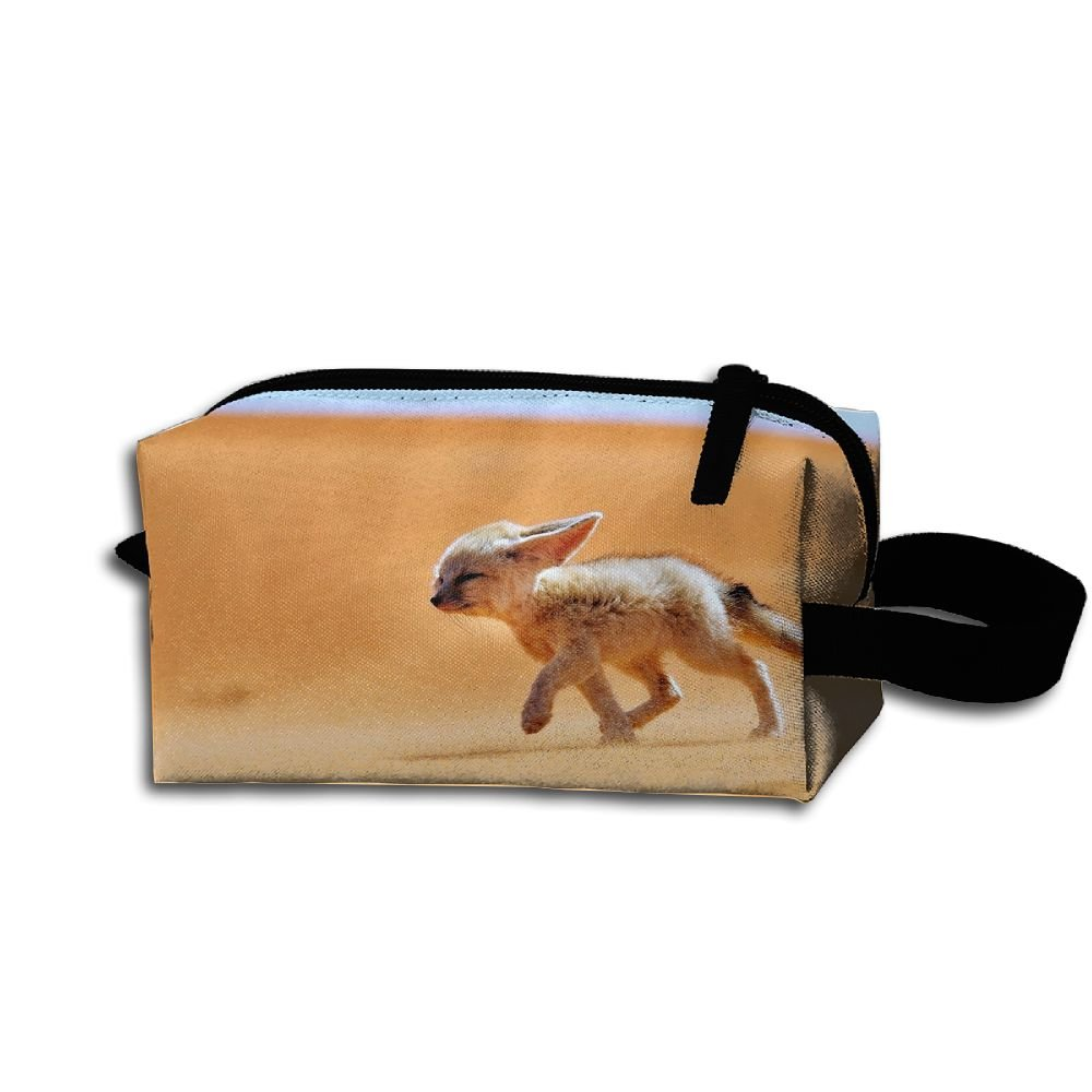 Makeup Cosmetic Bag Animals Africa Nature Zip Travel Portable Storage Pouch For Men Women