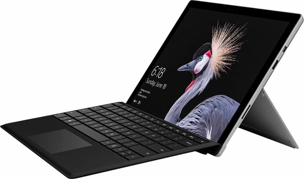 "Latest Model Microsoft Surface Pro 12.3"" PixelSense Touchscreen High Resolution Tablet PC with Black Type Cover, Intel Core M3-7Y30 Processor, 4GB RAM, 128GB SSD, WIFI, Windows 10 Pro, Silver"