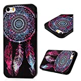 Iphone SE/Iphone 5S/Iphone 5 Case - BADALink Ultra [Slim Thin] Soft TPU Gel Fashion Colorful Painting Protective Flexible Rubber Skin Cover for Iphone SE/Iphone 5S/Iphone 5 - Aeolian Bells