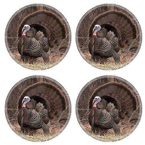 Luxlady Round Coasterss IMAGE ID 624800 Strutting wild turkey