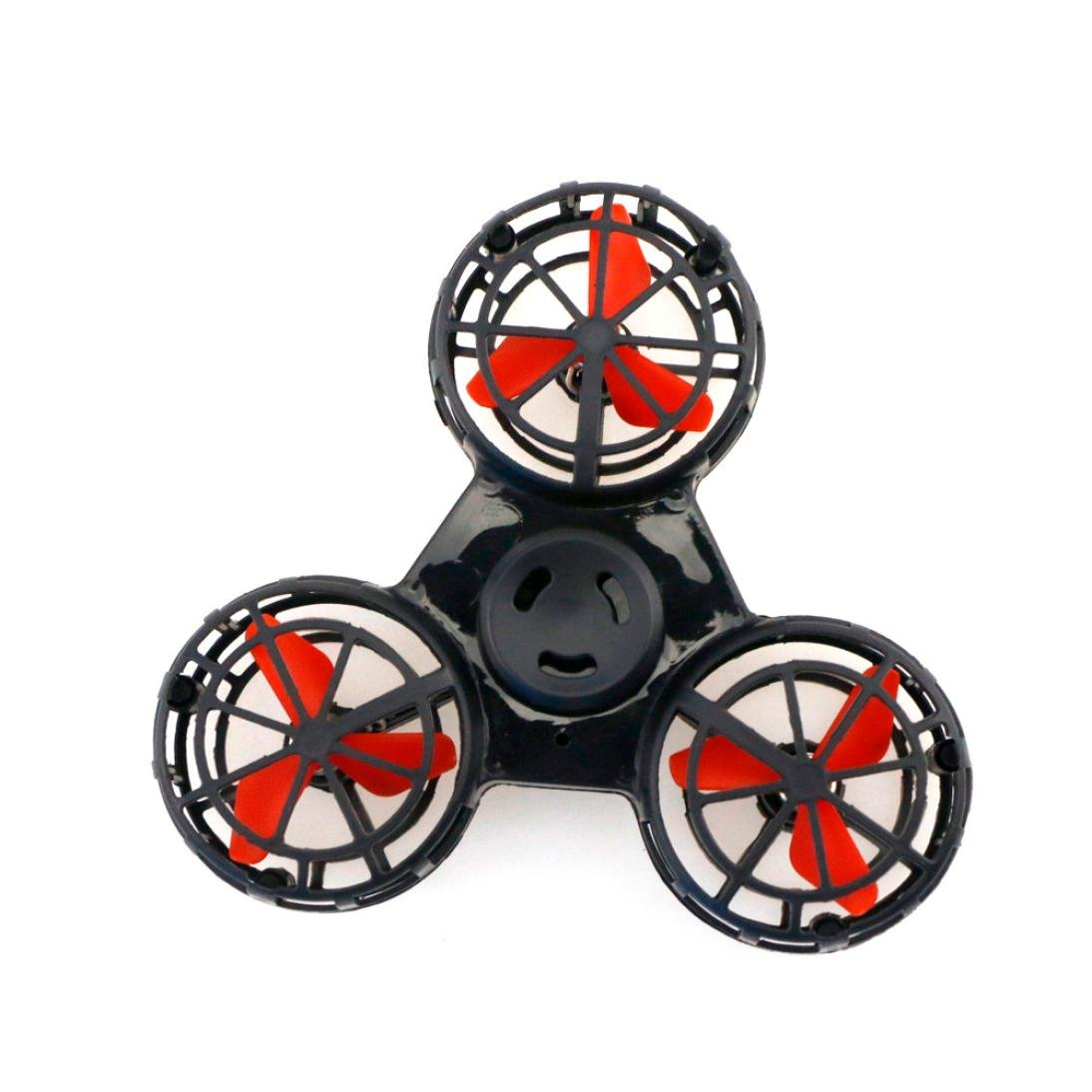 wuyimc ® TinyおもちゃドローンFlying Fidgetスピナー、anti-anxiety Stress ReliefギフトFlying GYROSCOP Toy Toys for Kids Adult B07DJZKNHQ  ブラック