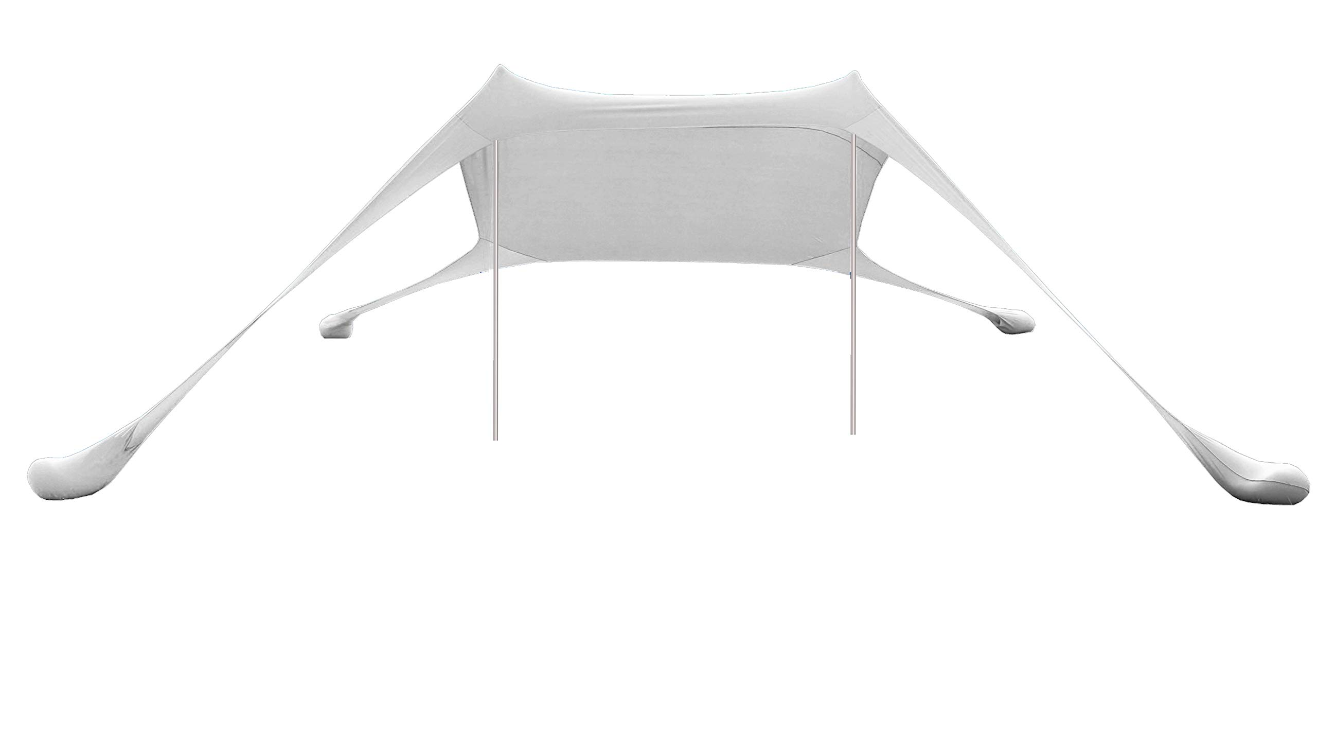 AMMSUN Beach Tent with sandbag Anchors, Portable Canopy Sun Shelter,7 X 7ft -Lightweight, 100% Lycra SunShelter with UV Protection. Sunshade for Family at The Beach, Parks, Camping & Outdoors/White by AMMSUN