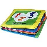 Malloom® Panno Morbido Sviluppo Libro Bambino Imparare Intelligenza Immagine Cognize Libro (A)