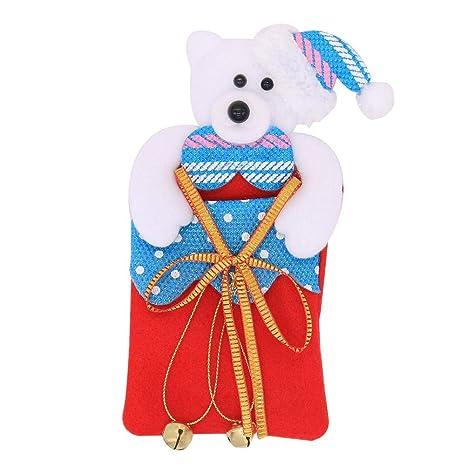 PEALO Decoraciones navideñas Bolsas de Dulces para niños ...