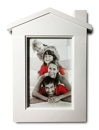 Amazon.com - Creative 4 x 6-inch White Plastic Collage Photo Frame ...