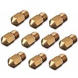 3D Printer Nozzle Head - SODIAL(R) 10x 0.3mm 3D Printer Brass Nozzle Head For 1.75mm M6 Thread Filament RepRap
