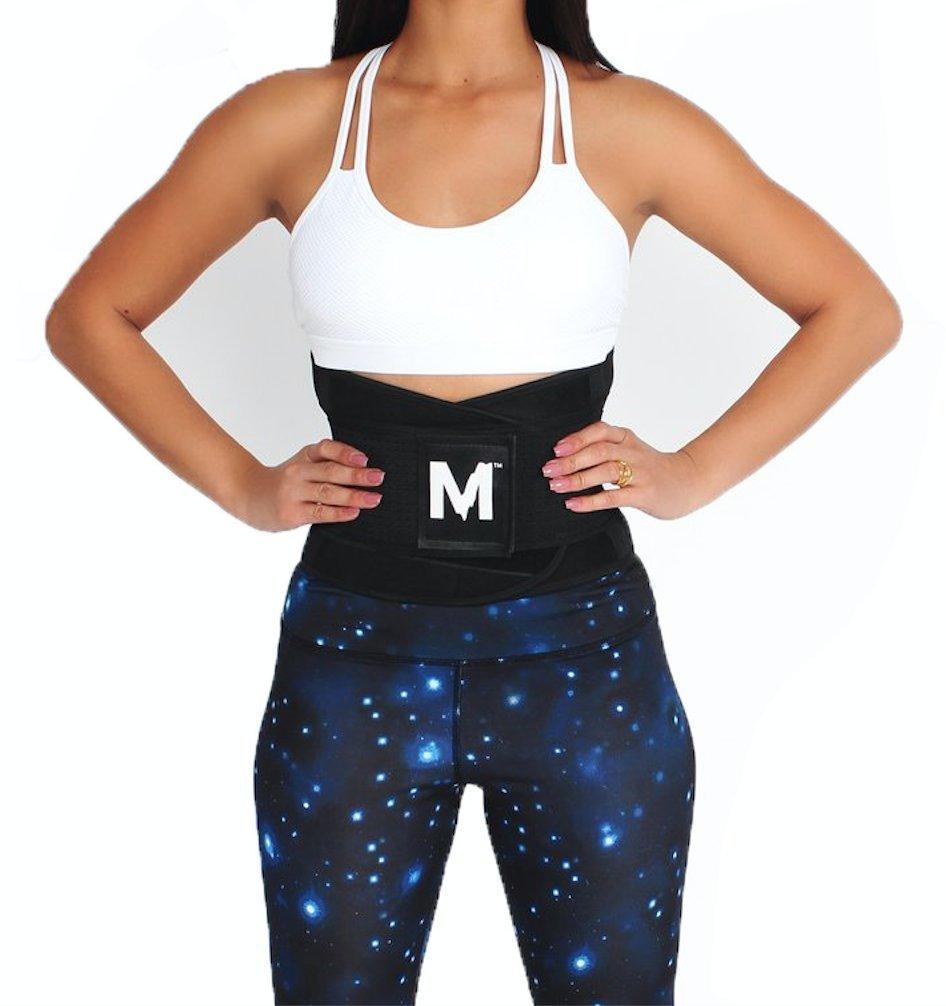 Melted Fitness Women's Waist Trainer Belt - Body Shaper for an Hourglass Figure (Medium, Onyx)
