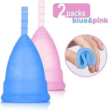 Copa Menstrual 2 Unidades con Bolsa de Regalo Talla L Suave CE Certificado Alternativa a los Tampónes y Compresas Protección de la Higiene Femenina