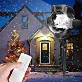 Toys : Christmas Projector Lights, Womsky Rotating IP65 Waterproof Sparkling Landscape Projection Light for Decoration Lighting with Remote Control,32ft Power Cable on Christmas Halloween Holiday Party