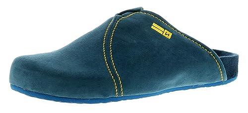 26394c9fe3a Nordikas 9900 Microsuede Mens Mule Slippers Blue - Blue - UK Size 8 ...