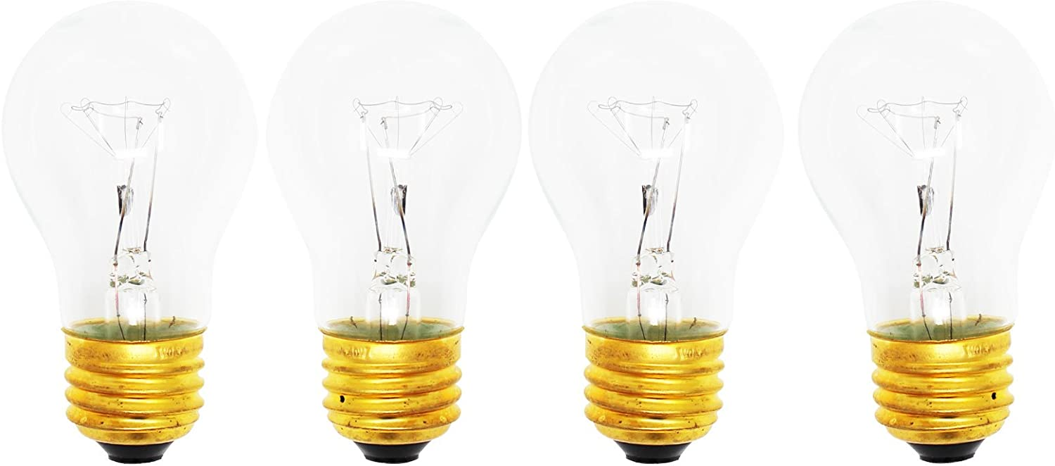 4-Pack Replacement Light Bulb for Samsung RGSF5330DT - Compatible Samsung 8009 Light Bulb