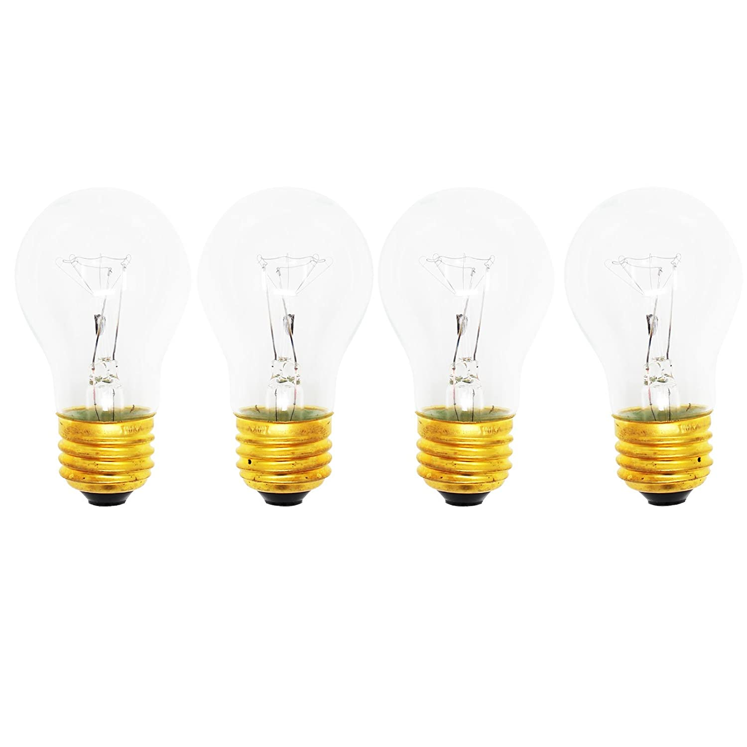 4-Pack Replacement Light Bulb for Amana TR21VL - Compatible Amana 8009 Light Bulb