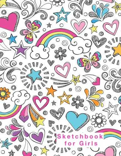 Sketchbook for Girls: Blank Pages, Extra large (8.5 x 11) inches, 110 pages, White paper, Sketch, Doodle and Draw cover
