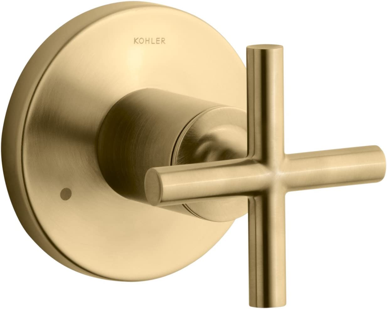 Kohler K T14491 3 Bgd Purist Transfer Valve Trim With Cross Handle Valve Not Included Vibrant Moderne Brushed Gold Single Handle Tub And Shower Faucets Amazon Com