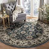 Safavieh Lyndhurst Collection LNH332T Traditional Oriental Teal and Cream Round Area Rug (7′ Round) Review