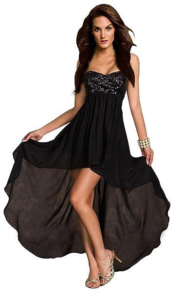 703315c13083d Aimerfeel donne Vestito a bustino paillettes corto davanti e lungo riflusso  Taglia SML  Amazon.it  Abbigliamento