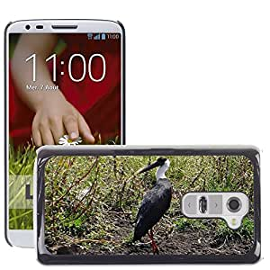 Hot Style Cell Phone PC Hard Case Cover // M00129692 Woolly-Necked Stork Bishop Stork // LG G2 D800 D802 D802TA D803 VS980 LS980