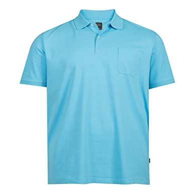 Kitaro Basic Piqué Poloshirt Türkisblau Übergröße, XL Größe 3XL ... caf3c02143