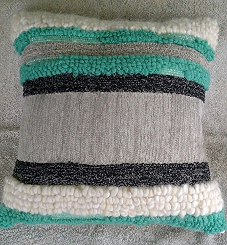 Green Xhilaration - Xhilaration Green & Gray Woven Square Throw Pillow, 16