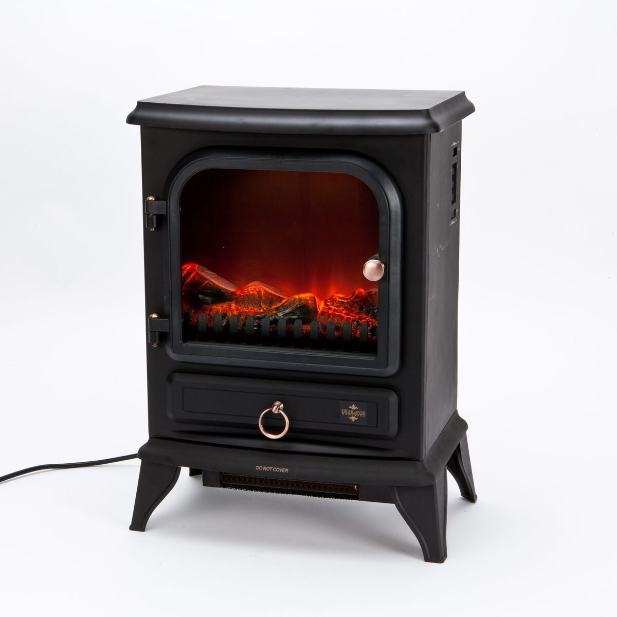 Inglenook 2000W Electric Log Flame Effect Stove Fire Heater HIGHLANDS