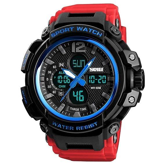 Reloj Digital de Cuarzo para Hombre Reloj Deportivo para Hombre Reloj LED Impermeable para Hombre
