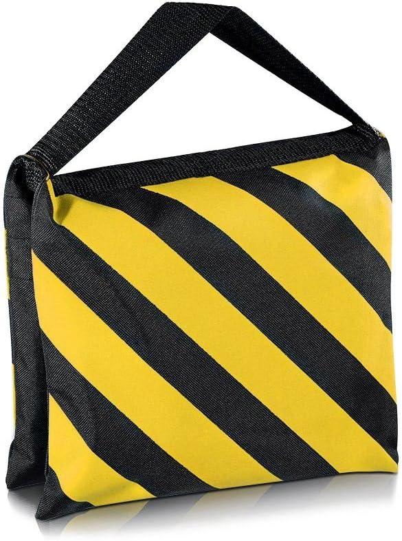 Black//Yellow Saddlebag for Pography Studio Video Stage Film Light Stands Boom Arms Travel CHUN-Accessory Top 6 Pack Dual Handle Sandbag
