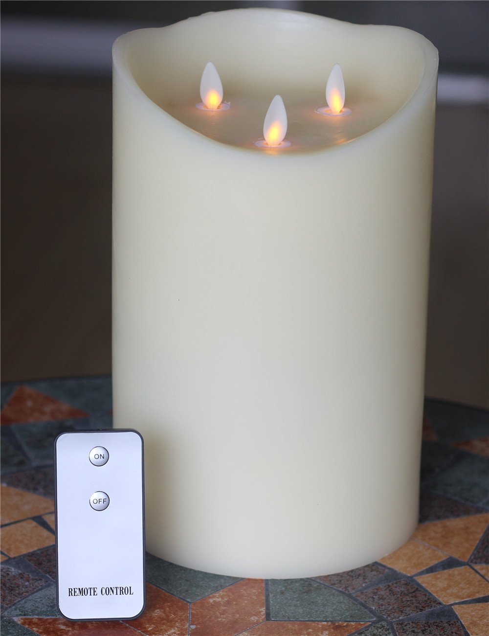 Flameless Candles Moving Wick Flame Candles with Remote Timer of 5-H Flickering Flameless Candles for Parties Gifts and Decoration Use by NONNO&ZGF