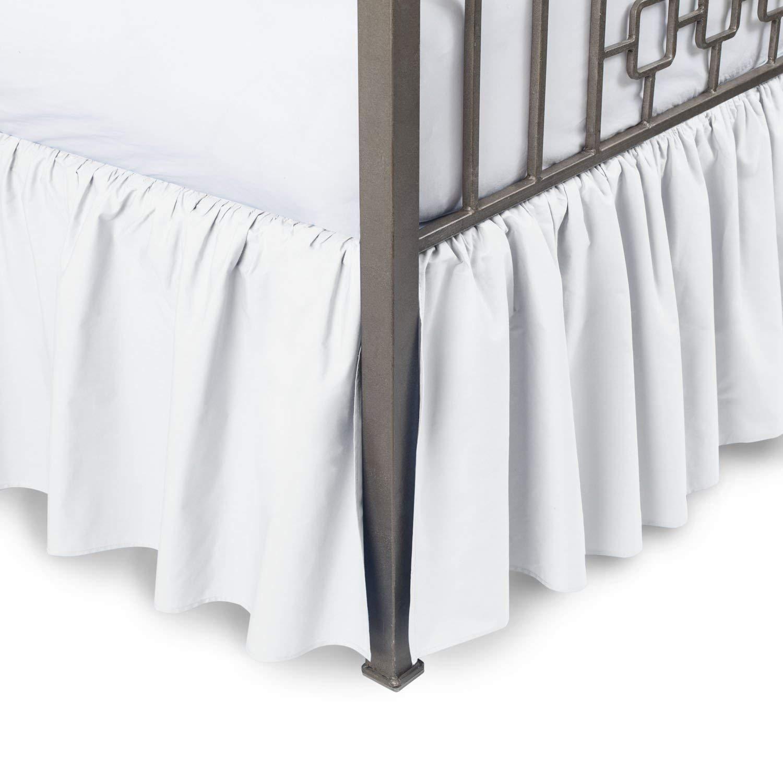 KP Linen India 100/% Egyptian Cotton Luxurious /& Hypoallergenic Easy to Wash Wrinkle, KP Linen King Size Split Corner Dust Ruffle Bed Skirt 16 inch Drop White, King Size Bed Skirt with 16 inch Drop