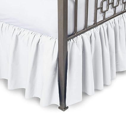 Amazon Com Kp Linen Queen Size Split Corner Dust Ruffle Bed Skirt