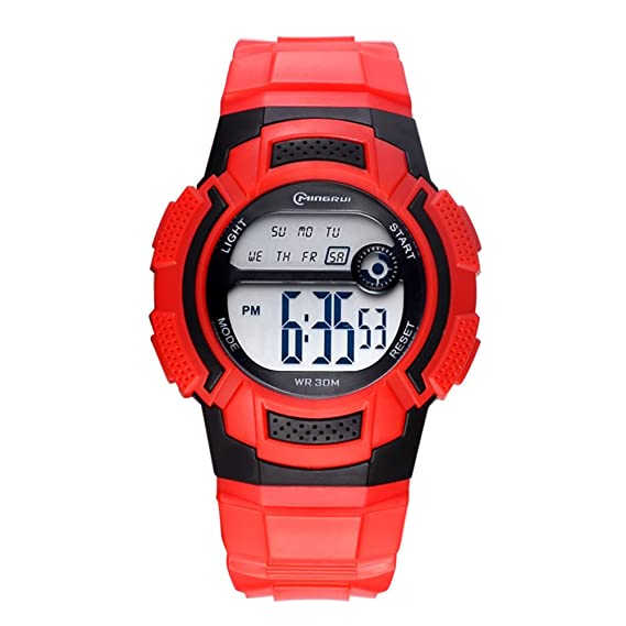 d78a0b63a Niño Relojes electrónicos,30m impermeable Luminoso Calendario Mes de la  semana Corriendo Reloj deportivo Junior Multifunción Jalea-N: Amazon.es:  Relojes
