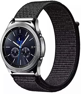 nylon band for Samsung galaxy watch 42 mm and galaxy active 42 mm black color