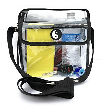 63a842f481ca Image Unavailable. Image not available for. Color  Clear Crossbody  Messenger Bag