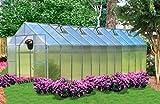Monticello Greenhouse Premium Package 8 x 24 Aluminum Finish