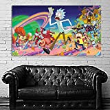 Poster Mural Pop Art Rick and Morty 34x60 inch (86x150 cm)...