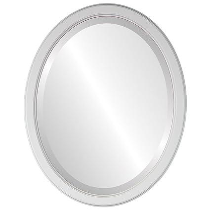 Amazon.com: Decorative Mirror for Wall | Framed Oval Beveled Wall ...