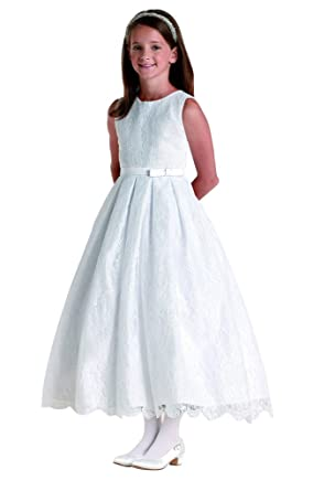 flowerry Girls Lace Wedding Party Dresses Junior Bridesmaid Dresses 2T Ivory